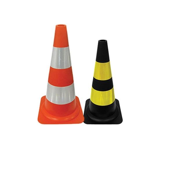 Cone flexivel preto e laranja